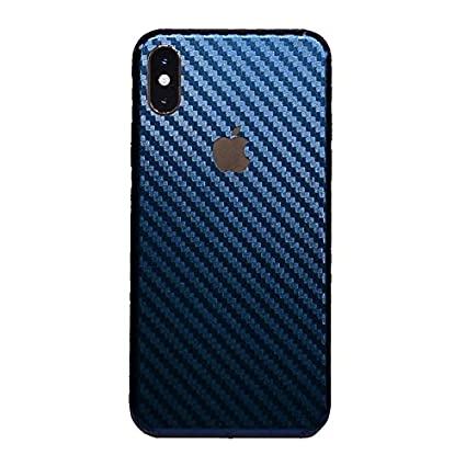 timeless design c53b0 85fa3 iPhone Xs MAX XR Skin Wrap,Tectom Carbon Fiber Skintz Color Changing Back  Sticker Decal (iPhone XR, Blue)