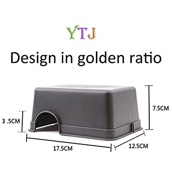 YTJ Portable Reptile Shelter Terrarium Food Grade Plastic Hide Place for Mini Pets, Large Size