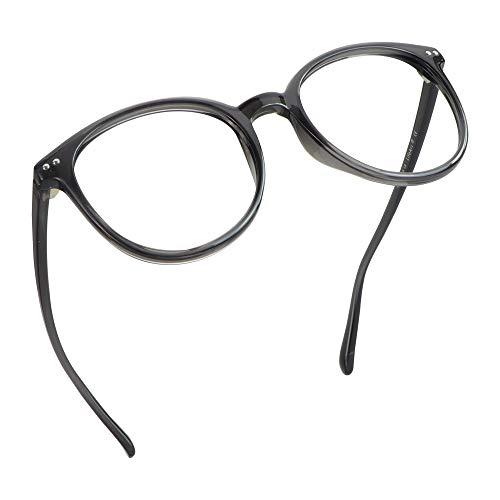 LifeArt Blue Light Blocking Glasses, Anti Eyestrain, Computer Reading Glasses, Gaming Glasses, TV Glasses for Women Men, Anti Glare (Clear Grey, 0.25 Magnification)