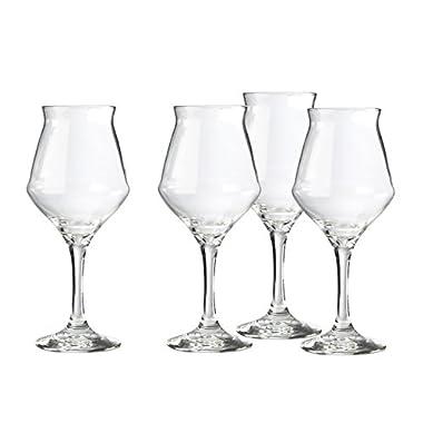 Amici Bier Sommelier Beer Glass, 12oz - Set of 4