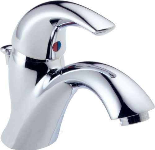 Delta Faucet Classic Single-Handle Bathroom Faucet with Drain Assembly, Chrome 583LF-WF ()