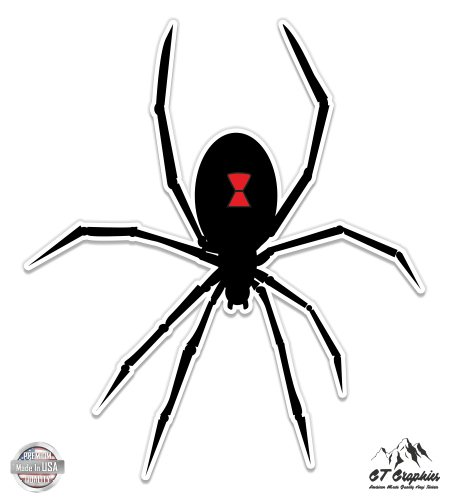 Spider Vinyl - Black Widow Spider Graphic - 12