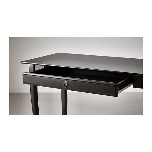 Ikea Leksvik Bureau.Ikea Leksvik Bureau Noir 119x60 Cm Amazon Fr Cuisine Maison