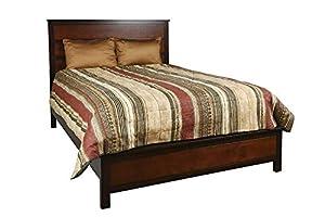 picture of New Classic Furniture Bishop 4-Piece Bedroom Set, Queen Bed, Dresser, Mirror, Nightstand, Two Tone