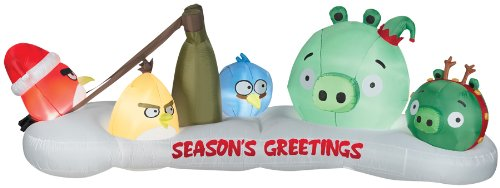 Gemmy Airblown Angry Birds Characters Inflatable Outdoor Indoor Decoration, 3.5 Feet Tall]()