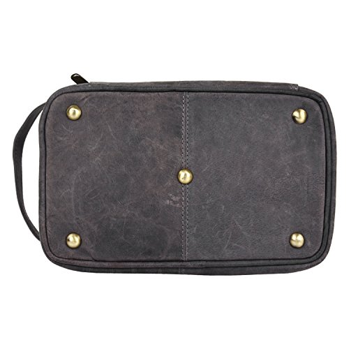 dfcf860a07f9 Handmade Buffalo Genuine Leather Toiletry Bag Dopp Kit Shaving - Import It  All