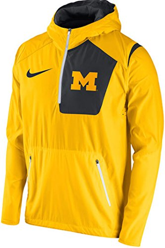 Michigan Wolverines Nike 2016 Sideline Vapor Fly Rush Half-Zip Pullover Jacket (Maize, Large) (Nike Vapor Jacket compare prices)
