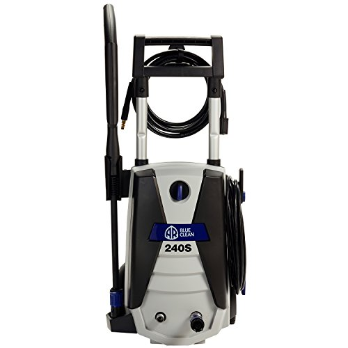 AR Blue Clean AR240S 1,700 PSI Electric Pressure Washer, Nozzles, Spray Gun, Wand, Detergent Tank & Hose by Annovi Reverberi