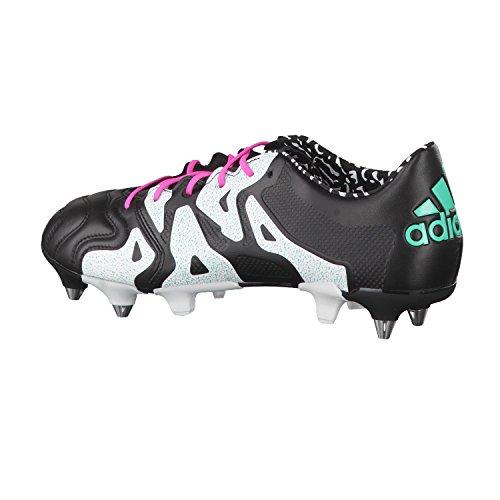 adidas X 15.1 SG Leather, Scarpe da Calcio Uomo Varios Colores (Negro / Rosa / Blanco (Negbas / Menimp / Ftwbla))