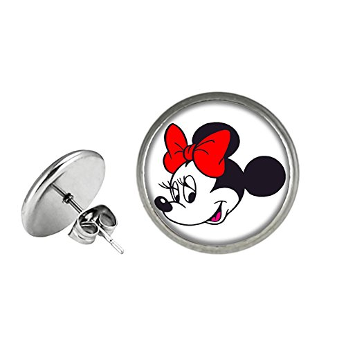 Minnie Mouse Disney Post Stud Earrings TV Micky Mouse Club House Comics Movies Cartoons Superhero Logo Theme Premium Quality Detailed Cosplay Jewelry Gift (Dead Mouse Costume For Sale)