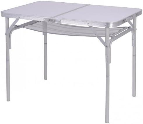 Mesa de camping 90 x 60 x 70 cm blanco plegable mesa plegable mesa – Perfil de aluminio: Amazon.es: Jardín