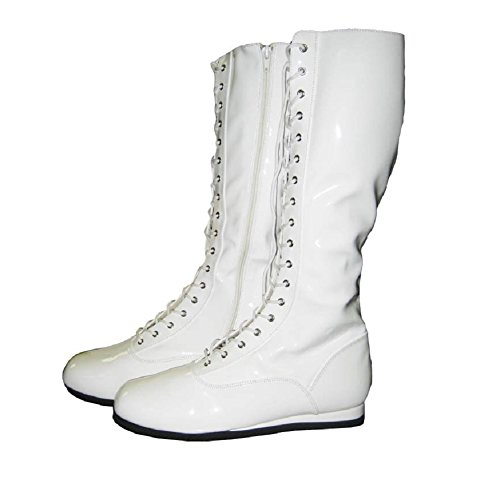 Pro Wrestling Costume Boots (Medium White)