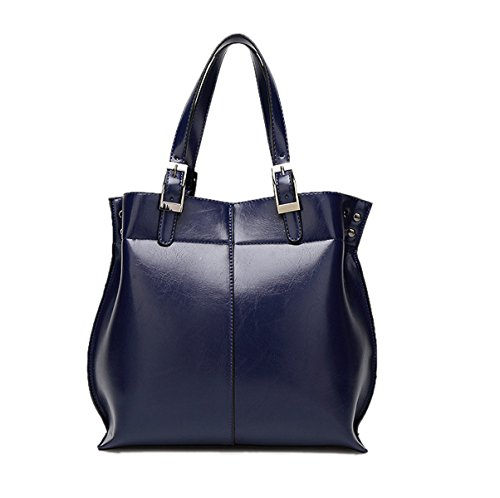 Mujer Nuevo Estilo Moda De Gama Alta PU solo Bolso De Hombro Bolso Blue