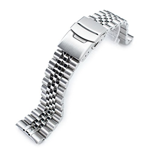 - 22mm Super Jubilee 316L SS Watch Bracelet for Seiko New Turtles SRP777 SRPA21 Brushed