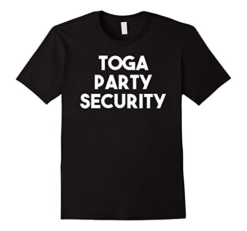 Black Toga Costumes (Mens Toga Party Security College T-Shirt 2XL Black)