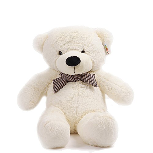 YunNasi Giant Huge Children Cuddly Plush Teddy Bears Stuffed Animal 100cm White