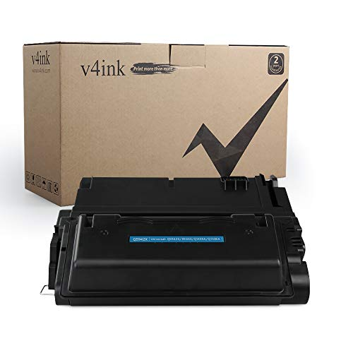 V4INK 1 Pack Compatible Q5942X Q1338A 42X 38A Toner Cartridge for use with Laserjet 4200 4250 4250N 4250TN 4250DTN 4350N 4350TN 4350DTN Series Printers