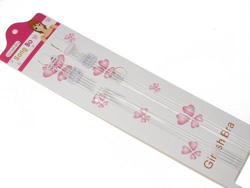 Invisible Transparent Clear Bra Straps Lingerie Accessories - 4 Stripes 10mm Wide