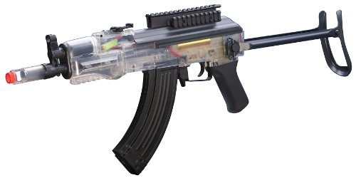 Game-Face-Clear-GF76C-Airsoft-Electric-Carbine-with-Battery-Charger