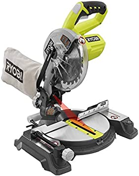 Ryobi Zrp551 One Plus 18v Cordless 7 1 4 In Miter Saw With Laser Tool Only Battery And Charger Not Included Renewed Power Miter Saws Amazon Com