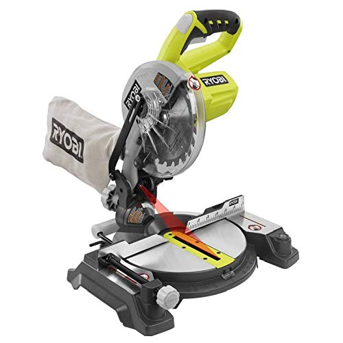 Ryobi ZRP551 ONE Plus 18V Cordless 7-1/4 in. Miter Saw with Laser (Bare Tool) (Certified Refurbished)