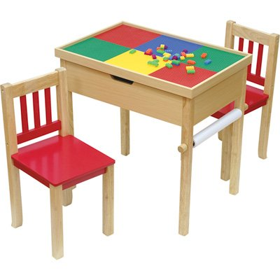 O'Kids All in Fun Premier 6-in-1 Multi-Function Flip Top Table and Chair Set ()