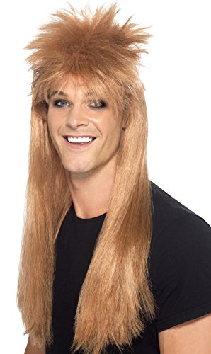 Smiffy's Men's 80's Rocker Mullet Wig