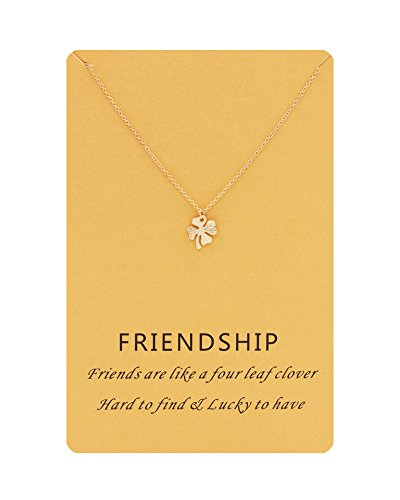 Zealmer Four Leaf Clover Necklace Lucky Charm Necklace for Women with ()