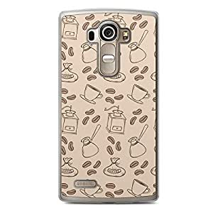 Coffe Beans Beige LG G4 Transparent Edge Case - Bakery Collection