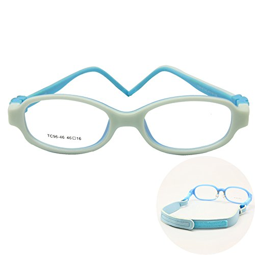 aeda5ca7109 Galleon - EnzoDate Kids Optical Eyeglasses Size 46 16 No Screw Bendable