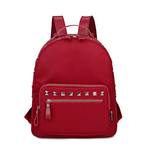 Mochila de remache/Moda individualidad bolsa de ocio/ mochila de nylon salvaje-A C