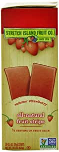 Stretch Island Original Fruit Leather, Summer Strawberry, 0.5-Ounce Bars (Pack of 30)