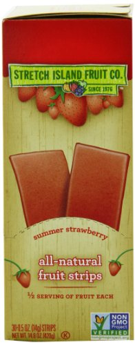 Stretch Island Original Fruit Leather, Summer Strawberry, 0.5-Ounce Strips (Pack of 30) (Cherry Dry Fruit)