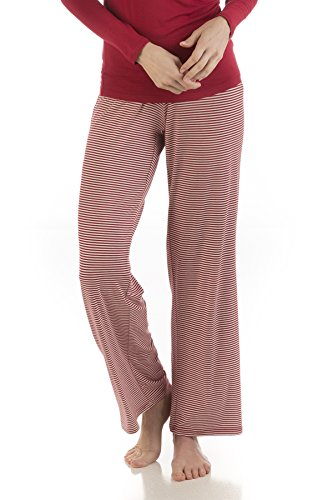LLP212 Extra Large Cranberry Micro Stripe BambooDreams Lily Lounge Pants.