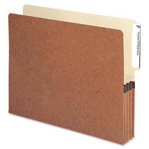 Wholesale CASE of 10 - Smead Redrope End Tab File Pockets-End Tab File Pockets, 3-1/2'' Expansion, Letter, 10/BX, Red