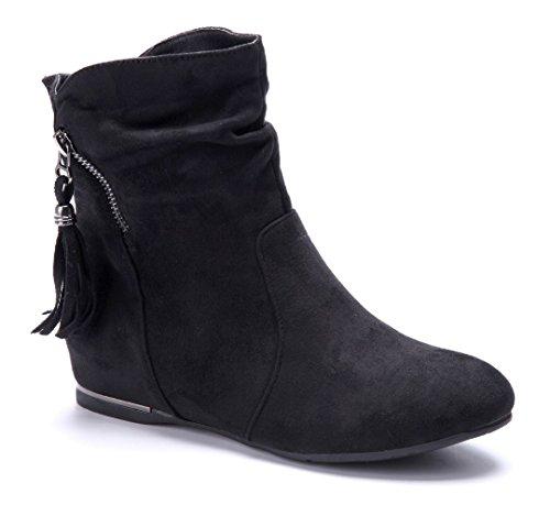 6ef0e1ff6228d8 Mit Visum Günstig Online Bezahlen Billig Verkauf Shop Damen Schuhe  Keilstiefeletten Stiefel Stiefeletten Boots Braun Keilabsatz