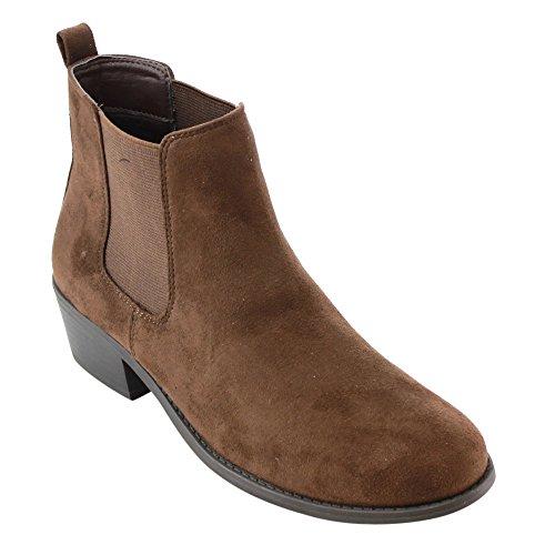 Refresh Damen Tildon-03 Low Heel Slip auf festen Ankle Boot Braun