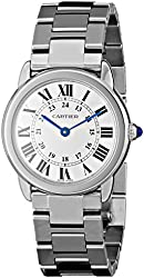 """Cartier Women's W6701004 """"Ronde Solo"""" Stainless Steel Watch with Link Bracelet"""