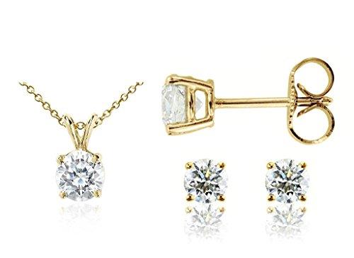 parikhs-round-diamond-pendant-stud-set-popular-quality-in-yellow-gold-007-ctw-i2-clarity