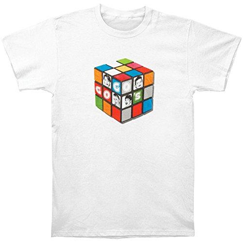 Go Gos Men's Rubik Slim Fit T-shirt Large White