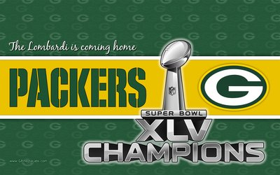 green bay packers banner poster
