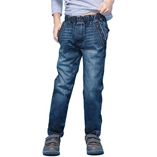 Crinkle Denim Jeans - 1
