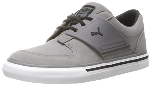 PUMA EL Ace 2 Nubuck Sneaker (Infant/Toddler/Little Kid), Steel Gray/Black, 10 M US (Toddler Black Nubuck Footwear)