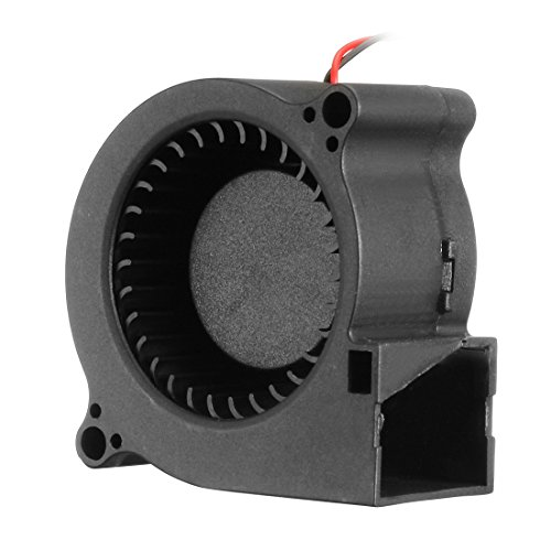 Dc Brushless Blower (uxcell 50mm x 25mm 12V DC Brushless Blower Cooling Fan with 2 Wires, Dual Ball Bearings)