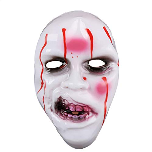 Witspace Halloween Zombie Mask, Grimace Mask Scary Party Dress up Props Costume (A)