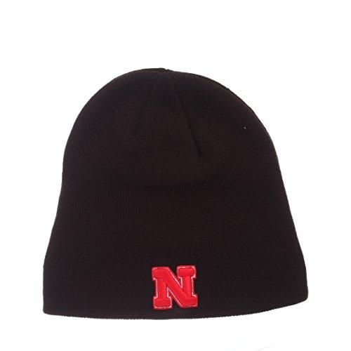 ZHATS Nebraska Cornhuskers Black Edge Skull Cap - NCAA Cuffless Winter Knit Beanie Toque Hat