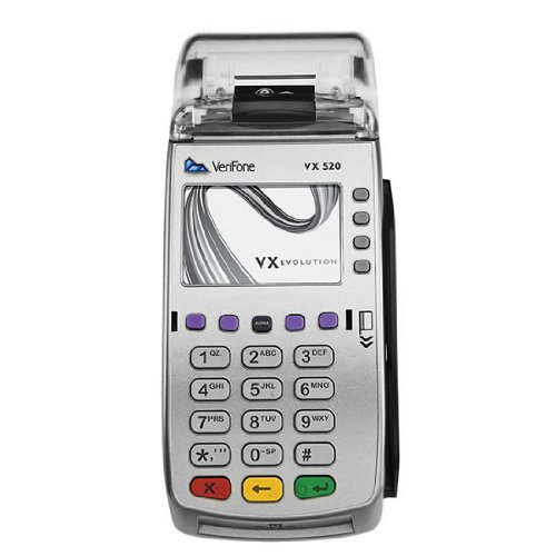 VeriFone VX 520 Dual Com 160 Mb Credit Card Machine, EMV (Europay, MasterCard, Visa) and NFC (Near Field Communication) or Contactless, Dial Up and Internet (Credit Card Processing Machine)