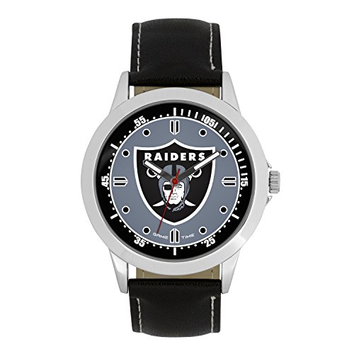 NFL Oakland Raiders Mens Player Series Wrist Watch, Silver, One Size