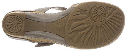 Marco Tozzi Women's 27213 T-Bar Sandals Beige (Taupe 341) qXh2Hi7n