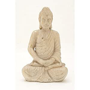 Ravishing cerámica blanco/oro de Buda